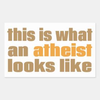 Éste es un qué ateo parece pegatina rectangular