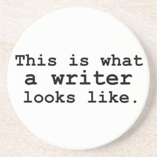 Éste es un qué escritor parece posavasos manualidades