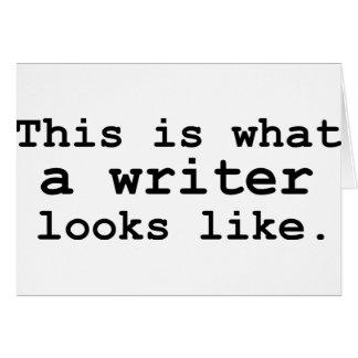 Éste es un qué escritor parece tarjeta de felicitación