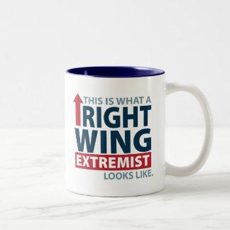 Éste es un qué extremista de la derecha parece taza de dos tonos