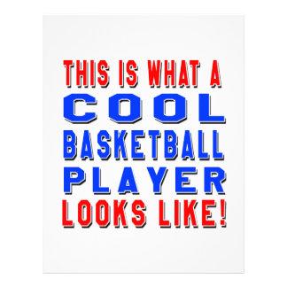 Éste es un qué jugador de básquet fresco parece membretes personalizados