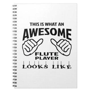 Éste es un qué jugador de flauta impresionante cuaderno
