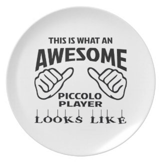Éste es un qué jugador de flautín impresionante platos
