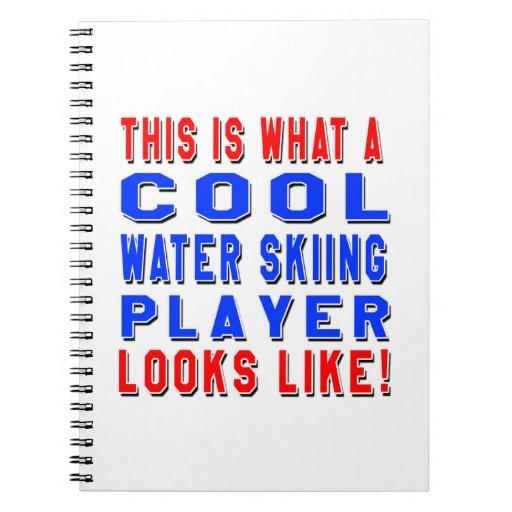 Éste es un qué jugador fresco del esquí acuático libros de apuntes con espiral