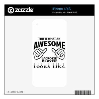 Éste es un qué jugador impresionante de LaCrosse iPhone 4S Calcomanías
