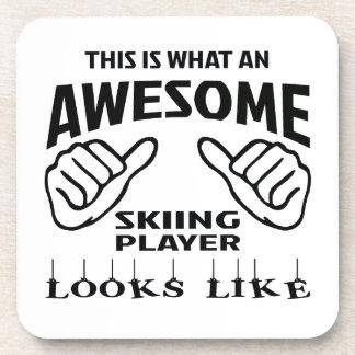 Éste es un qué jugador impresionante del esquí posavasos
