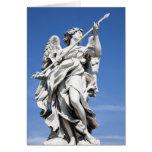 Éste es una de las estatuas del ángel de los 2 fam tarjeta de felicitación