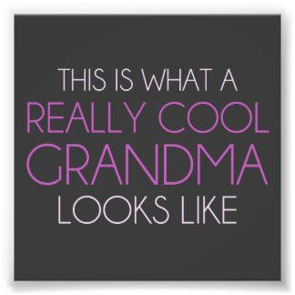 Éste es una qué abuela realmente fresca parece impresiones fotograficas