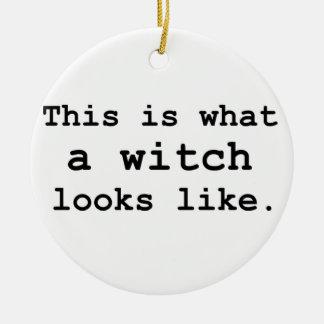 Éste es una qué bruja parece adorno redondo de cerámica