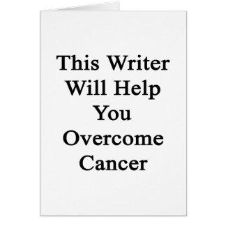 Este escritor le ayudará a superar al cáncer