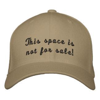 ¡Este espacio no está para la venta! Gorras Bordadas