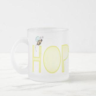 Esté esperanzado - una palabra positiva taza de cristal