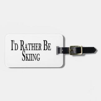 Esté esquiando bastante etiqueta de equipaje
