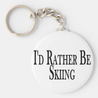 Esté esquiando bastante llavero personalizado