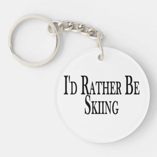Esté esquiando bastante llavero redondo acrílico a doble cara