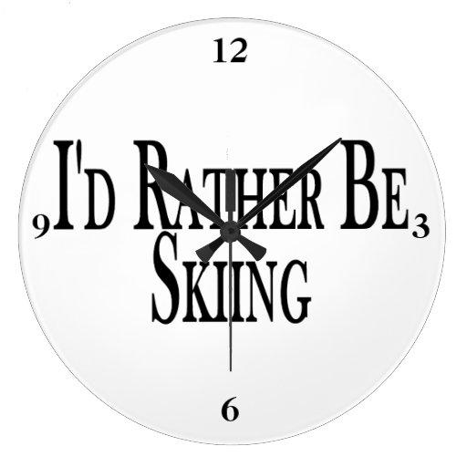 Esté esquiando bastante relojes de pared