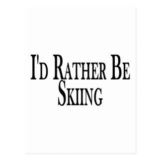 Esté esquiando bastante tarjetas postales