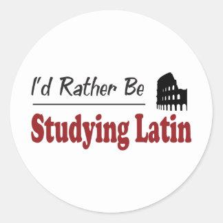 Esté estudiando bastante el latín pegatina redonda