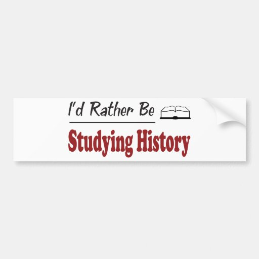 Esté estudiando bastante historia etiqueta de parachoque
