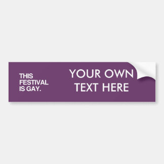 Este festival es gay pegatina de parachoque