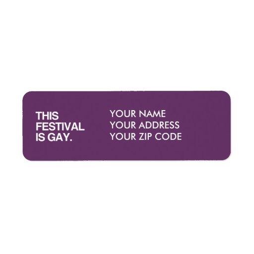 Este festival es gay etiqueta de remite