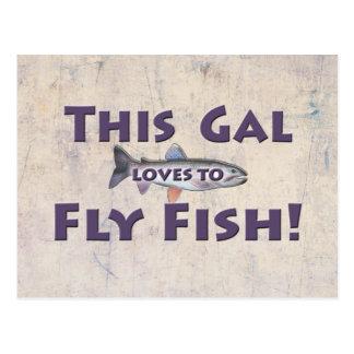¡Este galón ama volar pescados! Pesca con mosca de Tarjetas Postales