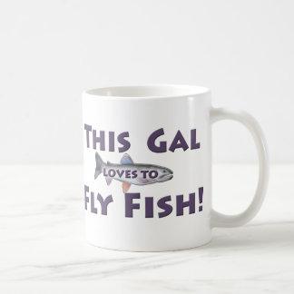 ¡Este galón ama volar pescados! Pesca con mosca de Taza Clásica