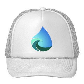 Este gorra blanco del camionero de la onda salada