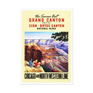 Este Gran Cañón de la visita del verano Impresiones En Lona Estiradas