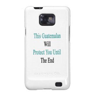 Este guatemalteco le protegerá hasta el fin samsung galaxy SII carcasas