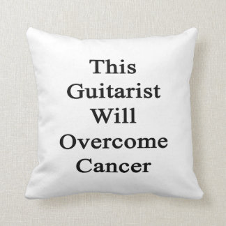 Este guitarrista superará al cáncer cojin