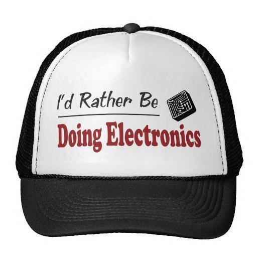 Esté haciendo bastante electrónica gorras de camionero