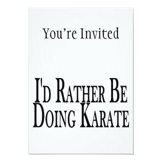 """Esté haciendo bastante karate invitación 5"""" x 7"""""""