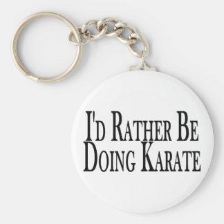 Esté haciendo bastante karate llavero redondo tipo pin