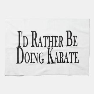 Esté haciendo bastante karate toallas de cocina