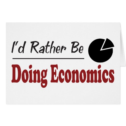 Esté haciendo bastante la economía tarjeta de felicitación