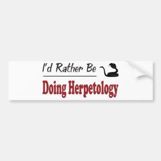 Esté haciendo bastante la herpetología pegatina para auto