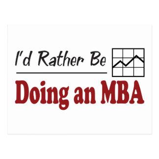 Esté haciendo bastante MBA Postal