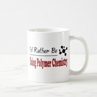 Esté haciendo bastante química del polímero taza de café