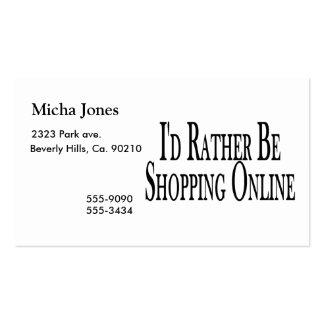 Esté haciendo compras bastante en línea tarjetas de visita