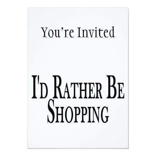 """Esté haciendo compras bastante invitación 5"""" x 7"""""""