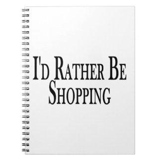 Esté haciendo compras bastante libreta espiral