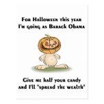Este Halloween voy como Barack Obama Postales