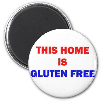 Este hogar es gluten libre imán redondo 5 cm