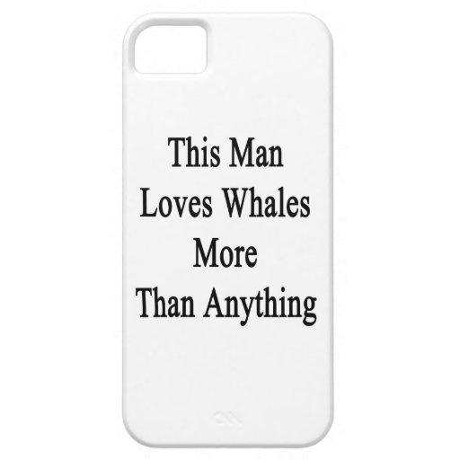 Este hombre ama ballenas más que cualquier cosa iPhone 5 Case-Mate coberturas