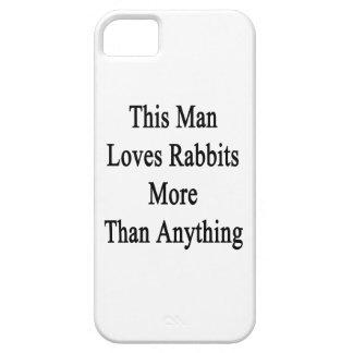 Este hombre ama conejos más que cualquier cosa iPhone 5 fundas