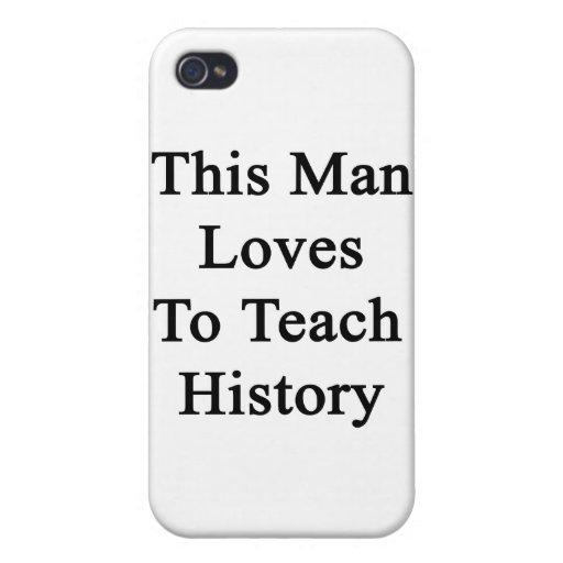 Este hombre ama enseñar a historia iPhone 4/4S funda