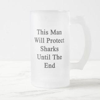 Este hombre protegerá tiburones hasta el extremo taza cristal mate
