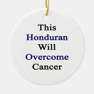 Este Honduran superará al cáncer Adorno De Navidad