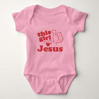 Este individuo ama a Jesús Body Para Bebé